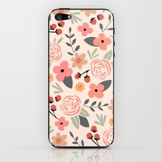 FLOWER FEST iPhone & iPod Skin by Kelli Murray | Society6