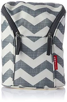85edcd4bd5 Skip Hop Insulated Breastmilk Cooler And Baby Bottle Bag, Grab & Go Double,  Chevron