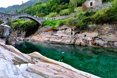 Ponte dei Salti by Welbis Pestana on River, Outdoor, God, Nature, Nice Asses, Switzerland, Outdoors, Dios, Outdoor Living