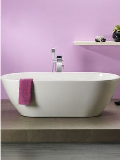 REUTER Shop recommends: Ottofond Carney freestanding bath 703301 ✓ with Best Price Guarantee. Sweet Home, Sink, Bathtub, Cool Stuff, Bathroom, Minimalist Lifestyle, Hue, Challenge, Interiors