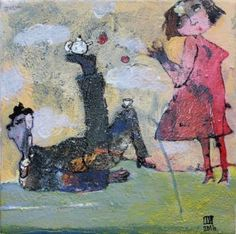 """Saatchi Art Artist Ilya Volykhine; Painting, """"He Dreams of Life in the Circus, 2016"""" #art"""