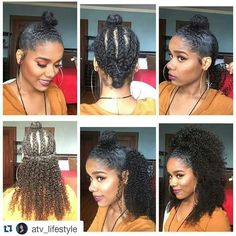 Curly Half Up Half Down Weave Hair Styles To Try In 2019 . Curly Half Up Half Down Weave Hair Styles To Try In 2019 . Natural Hair Styles protective weave styles for natural hair Kinky Curly Clip Ins, Kinky Curly Hair, Curly Hair Styles, Natural Hair Styles, Curly Ponytail Weave, Frizzy Hair, Curly Half Up Half Down, Curly Half Wig, Protective Hairstyles For Natural Hair