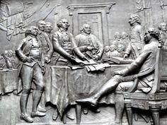 Plaque commémorative de la signature de la déclaration d'indépendance - Quartier historique de Boston.