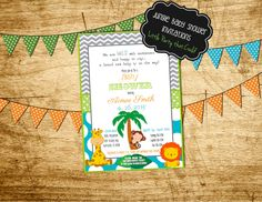 Jungle Baby Shower, Diaper Raffle Tickets, Safari, printable, PDF, by Little Party that Could by LittlePartythatCould on Etsy