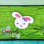 Girly Bunny Feltie ITH Embroidery Design 4x4 hoop (and larger)