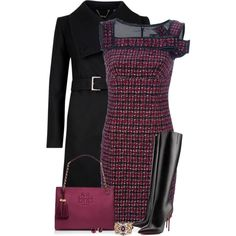A fashion look from October 2014 featuring Ted Baker coats, Christian Louboutin boots and Tory Burch tote bags. Browse and shop related looks.