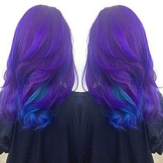 Purple and blue ombre.