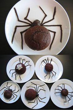 DIY  :: Halloween Spider Cakes (  )
