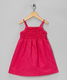 Hot Pink Ruffle Dress - Toddler | something special every day
