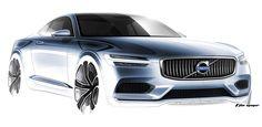 Volvo Concept Coupe, 2013 - Design Sketch