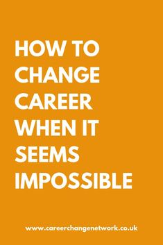 How to change career paths in the face of the odds