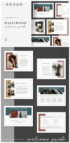 HAZELWOOD | Welcome Guide by Marigold Studios on @creativemarket #presentation #keynote #template #powerpoint #creativemarket Powerpoint Presentation Slides, Design Presentation, Business Presentation, Presentation Templates, Presentation Folder, Interior Presentation, Product Presentation, Powerpoint Themes, Presentation Boards