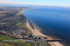 Nairn.Aerial photograph Scotland.Prints 18x12 £25 24x16 £35 same size on canvas ready to hang £60. Order via website www.scotaviaimages.co.uk