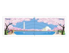 USPS New Cherry Blossom Centennial Forever Self-Adhesive Stamps