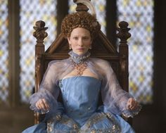 F - Elizabeth: The Golden Age (Cate Blanchett as Queen Elizabeth) Elizabeth The Golden Age, Queen Elizabeth, Meryl Streep, Half Updo Tutorial, Black Band Tattoo, Bob Hairstyles For Thick, Blue Eyed Girls, Costume Tutorial, Movie Costumes