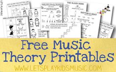 Read Music Free Resources - Free Sheet Music and Theory Printables - Let's Play Music - Free sheet music of traditional nursery rhymes and children's songs and free fun and easy music theory printable worksheets for kids. Lets Play Music, Music For Kids, Preschool Music, Music Activities, Movement Activities, Leadership Activities, Group Activities, Physical Activities, Teacher Resources