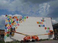 Steve Powers Love Letters to Philadelphia Steve Powers, Sweet Station, Art Mural, Murals, Yarn Bombing, Graffiti Wall, Chalk Art, Street Artists, Public Art