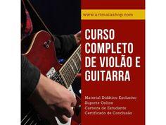 CURSO COMPLETO DE VIOLÃO E GUITARRA - Via Download Material Didático, Download, Music Teachers, Sheet Music