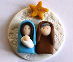 Nativity polymer clay/fimo embellishment/magnet BUY any 5 GET 1 FREE 2019 Krippe Polymer Clay/Fimo Verzierung/Magnet von AngelsNestEtsy The post Nativity polymer clay/fimo embellishment/magnet BUY any 5 GET 1 FREE 2019 appeared first on Clay ideas. Nativity Ornaments, Christmas Nativity Scene, Nativity Crafts, Noel Christmas, Christmas Projects, Holiday Crafts, Christmas Ornaments, Nativity Sets, Polymer Clay Ornaments