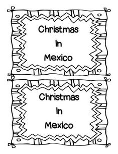 Christmas Around The World COLORING PAGES 18 black line masters to