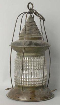 Large cone top birdcage brass ship lantern Nautical Lanterns, Modern Lanterns, Old Lanterns, Vintage Lanterns, Steam Boats, Nursery Décor, Lantern Chandelier, House By The Sea, Lantern Candle Holders