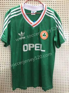 63584d9e2f3 Retro Version Ireland Home Green Thailand Soccer Jersey AAA-811