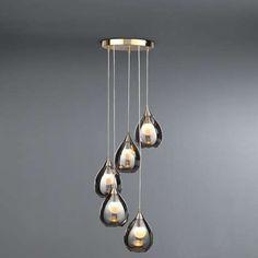 5A Fifth Avenue Sintra Smoke Glass Fitting | Dunelm