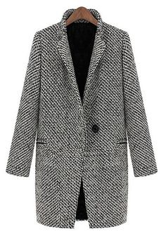 Classics never fade! With Only One week&easy return, you can have this plaid lapel coat detailed with button at front&side pockets. Can Not deny it at Cupshe.com !