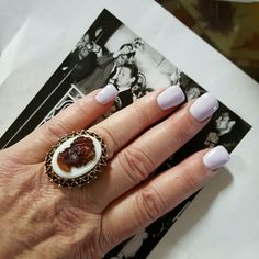 Host Pick VTG Cameo Ring one size TODAY Fabulous vintage piece in pristine condition with adjustable gold band. A great piece of costume jewelry from the late sixties or early seventies. Vintage Jewelry Rings