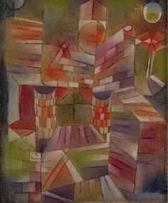 Paul Klee, Architecture with Window on ArtStack #paul-klee #art