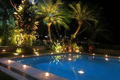 Piscina decorada com velas Blog da Andrea Rudge