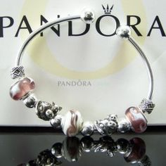 Pandora 3 Brown Charms Bracelet