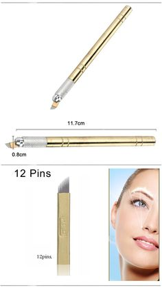 Golden Tebori Pen Microblading pen tattoo machine for permanent makeup