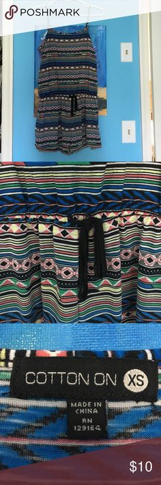 Tribal Romper cute & colorful tribal print romper, perfect for summer & back to school, very comfortable, still in great condition! Cotton On Dresses