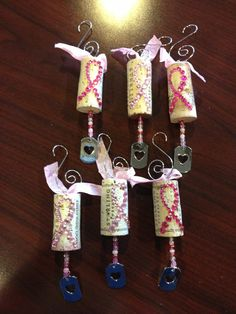 RESERVED FOR JACKIE Wine cork ornaments by ideezine4u on Etsy, $39.00
