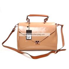 Mulberry Women's Neely Patent Leather Satchel Bag Apricot