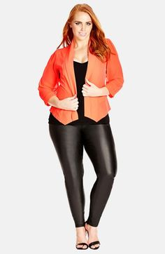 f5453d47a40 City Chic Chiffon Sleeve Blazer (Plus Size) available at  Nordstrom Trendy  Clothing Stores