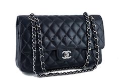 On many waitlists around the world and ever-increasing in price is this Chanel Black Caviar Medium Classic 2.55 Double Flap Bag, SHW, currently retailing at $4,900 + tax in domestic U.S. stores. The caviar leather version of this Chanel timeless classic is highly coveted for its scratch-resistant versatility and understatated luxury. This is the 10-inch version of the classic double flap. This item is in very good condition with very few signs of normal use. Hardware is shiny and not…