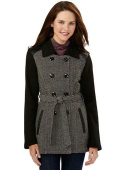 I love the asymmetrical front to this coat! Cole Haan Wool Blend Officer's Coat (Regular & Petite) (Online Only) available at Faux Fur Collar Coat, Double Breasted Trench Coat, Coats For Women, Mantel, Asos, How To Wear, Clothes, Shopping, Wool Blend