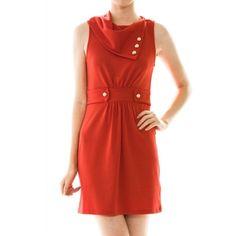 Nola Ascot Dress Red