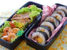 巻き寿司お弁当 : おうち大好き