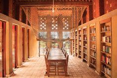 LIBRARY of MUYINGA, BURUNDI - BC architects. Compressed earth blocks.
