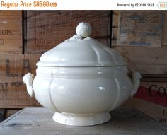 15%off French Antique Tureen French Tureen  by myfrenchycottage