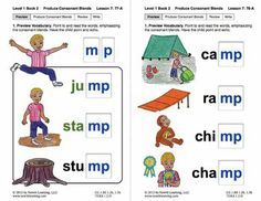 "Produce Consonant Blends ""lt"" and ""mp"": Lesson 7, Book 2 (Newitt Grade 1)"