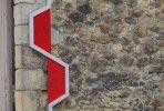 Signage for Abbaye de Fontevraud in France Le Manoosh, Journal Du Design, Signage Design, New Sign, Graphic Design, Special Olympics, Monuments, Snowboarding, Designers
