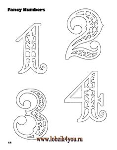 Classic Fretwork Scroll Saw Patterns (Sterling 1991 Kirigami, Fancy Numbers, Letters And Numbers, Scroll Saw Patterns Free, Free Pattern, 3d Cnc, 3d Laser, Colouring Pages, Pyrography