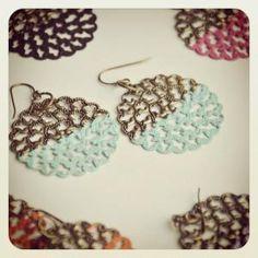 Dipped Disk Earrings SE Jewelry  www.sashapellow.com My Girl, Crochet Earrings, My Style, Jewelry, Fashion, Jewlery, Moda, Jewels, La Mode