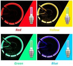 Single Induction Vibration Function - This LED wheel light is activated by motion, lights turn on when moving; The LED value bike light is a Bicycle Wheel, Bicycle Tires, Bicycle Lights, Lights Please, Led, Car Ins, Car Accessories, Save Energy, Cool Things To Buy