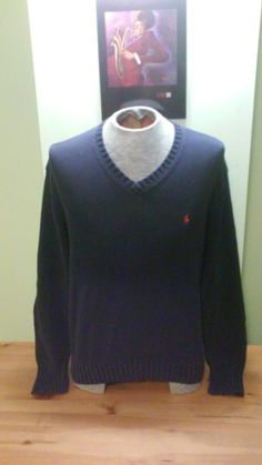 d2899ecbcd3 Vintage Polo Navy Blue Thick Knit Sweater By Ralph Lauren by VintageMixWest  on Etsy Ralph Lauren