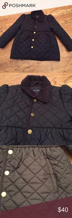 Ralph Lauren NWOT Navy Quilted Jacket Ralph Lauren Quilted Navy Jacket.  Size 5.  NWOT.  Adorable!! Ralph Lauren Jackets & Coats